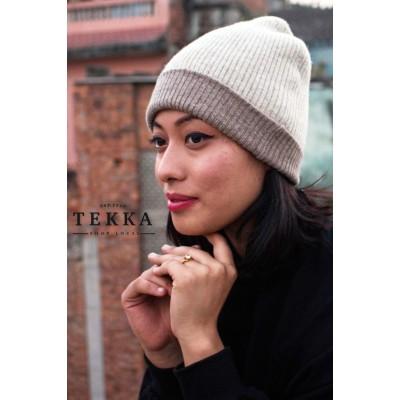 Rib Hat- Mix wool Pashmina