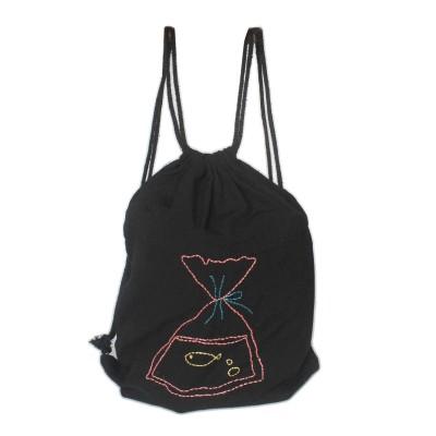 Bag pack emboidered