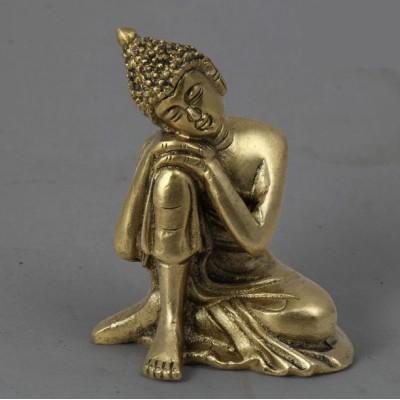Brass metal Buddha statue - 6 Inch