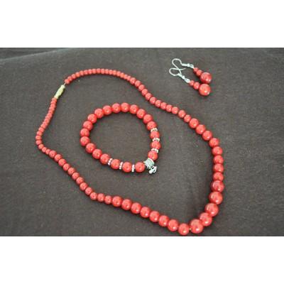 Red Stone Jewellery Set