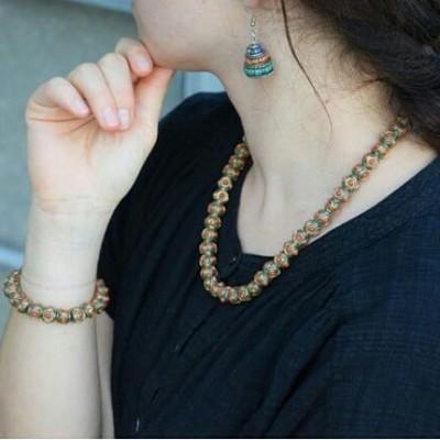 Tibetan Beads Jewellery Set