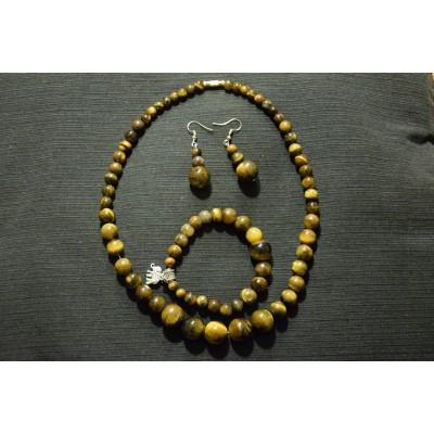 Tiger Eye Jewellery Set
