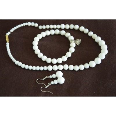 White Stone Jewellery Set