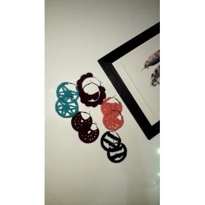 Ring Crochet earring
