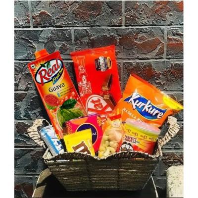 Bhai Tika Gift Basket- Medium