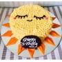 Sun Themed White Chocolate Cake- Per 2 Pound
