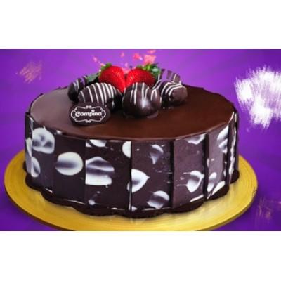 Chocolate Cake With Design - 1 Pound