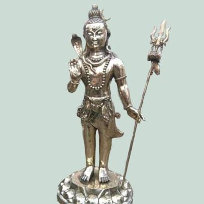 Brass Plated Shiva Statue- 36 inch