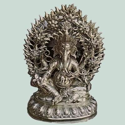 Brass Plated Ganesh Statue- 36 inch