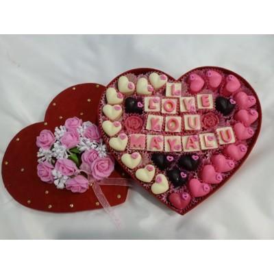 Valentine Message Cake