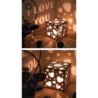 Wooden Love Lamp