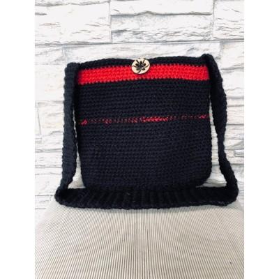 Black/Red Woolen Bag