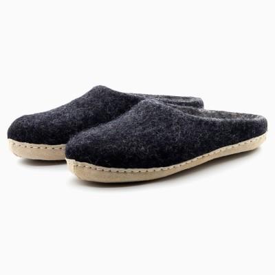 Felt Slippers (Charcoal)