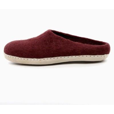 Felt Slippers (Crimson)