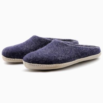 Felt Slippers (Indigo)