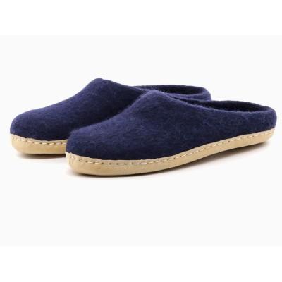 Felt Slippers (Navy)
