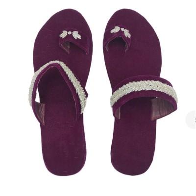 Purple Kolapuri Slipper