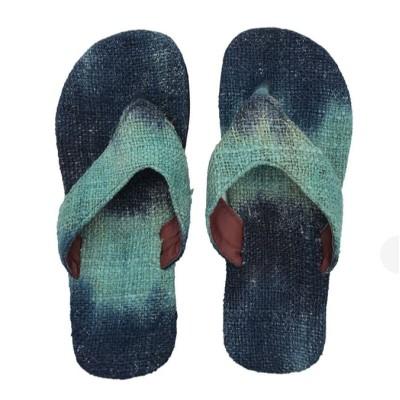 Blue Hemp Dye Slipper
