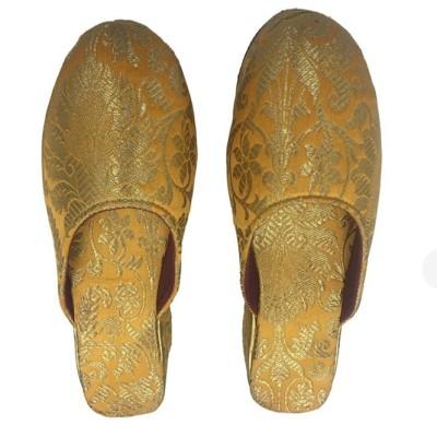 Golden Brocade Mule Shoe