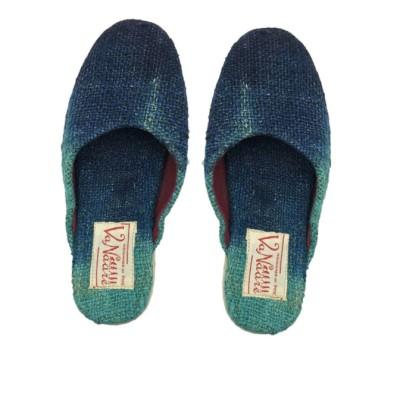 Hemp Blue Dye Mule Shoe