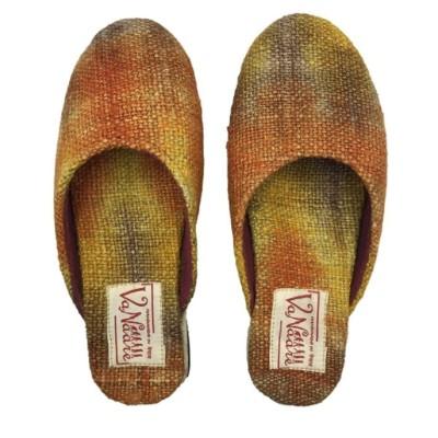 Hemp Orange Dye Mule Shoe