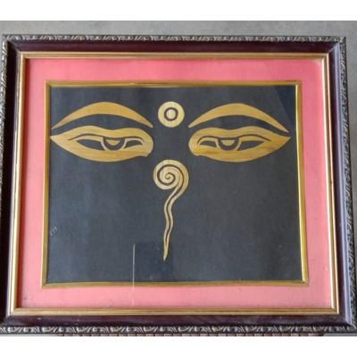 Jagaran Handicraft Swyambhu Eye with Wall Frame For Home,office
