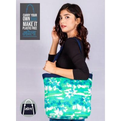 Multi Purpose Tote Bag With Sea Green