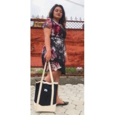 Multi Purpose Tote Bag - Nepali Cotton (Gheri and Cotton Fabric)