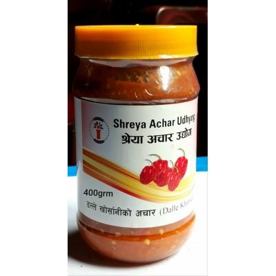 Dalle khursani Ko Achar (Dalle Khursani Pickle)- 400 Grm
