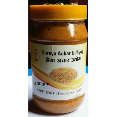Methi ko Achar ( Fenugreek Pickle)- 400 Grm