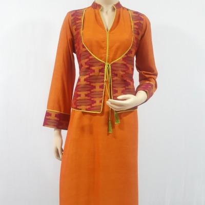 Dhaka and Cotton/Silk Kurti